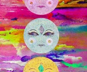 moon, psychedelic, and trippy image