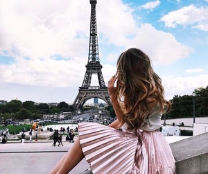 dress, paris, and fashion image
