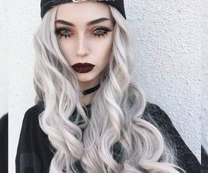 alternative, makeup, and model image
