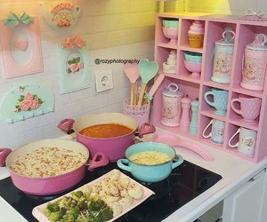 Dream, kitchen, and pink image