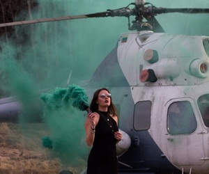 cool, girl, and helicopter image