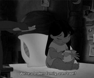family, sad, and broken image