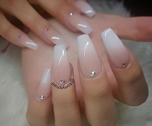 glam, Nude, and nails image