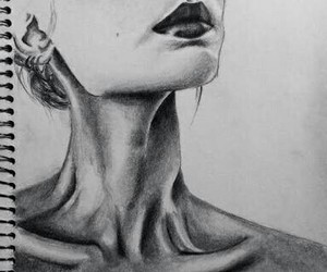 anorexic, art, and drawing image