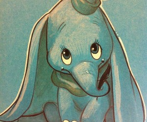 disney, dumbo, and drawing image