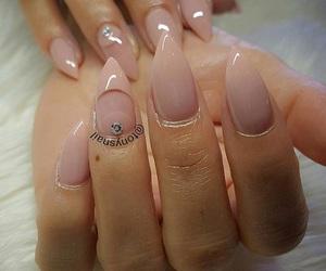 nails, nude nails, and nails design image