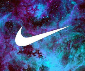 galaxy, nike, and love image