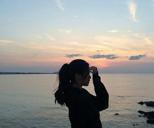 girl, sky, and asian image