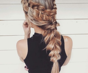 beauty, style, and braids image