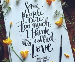 love, flowers, and quotes image