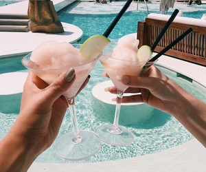 drinks, pool, and summer image