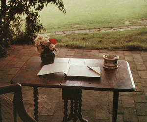book, nature, and vintage image