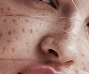 theme, freckles, and beauty image