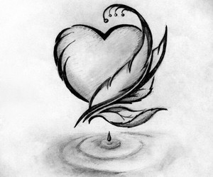 art, drawings, and heart image