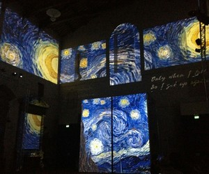 art, museum, and starry night image