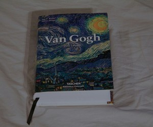 art, book, and starry night image
