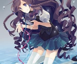 anime girl, brown hair, and anime image
