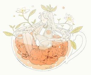 anime, girl, and flower image
