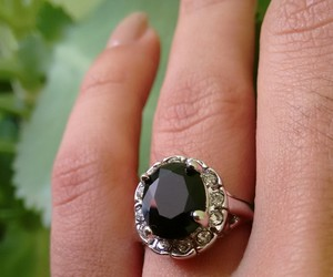 black, ring, and jewelry image