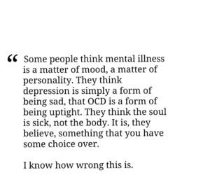 depression, mental illness, and ocd image