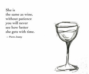 girl, wine, and patience image