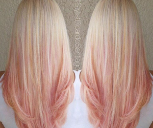 hair, pink, and beautiful image