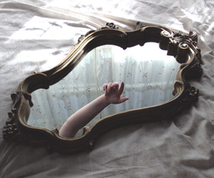 mirror, hand, and aesthetic image