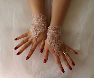 accessory, wedding gloves, and pink wedding glove image