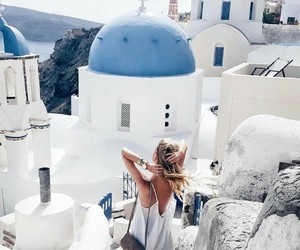blue, girl, and travel image