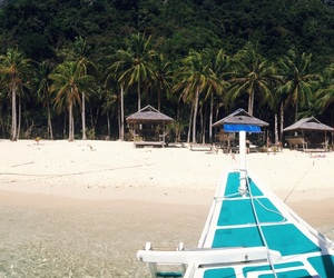 beach, clear water, and palawan image