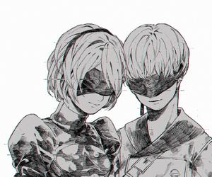 anime and monochrome image