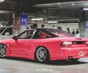 cars, pink, and jdm image