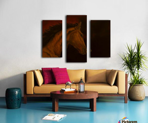 painting, wall art, and split canvas print image