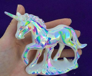 unicorn, holographic, and rainbow image