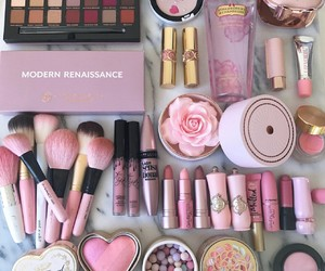 makeup, pink, and cosmetics image