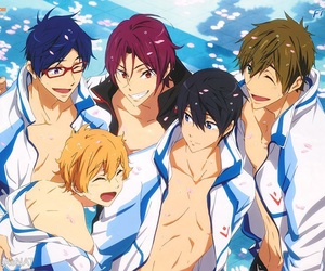 anime, free!, and rei image