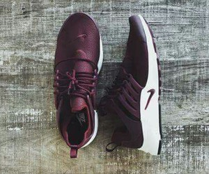 nike, shoes, and burgundy image