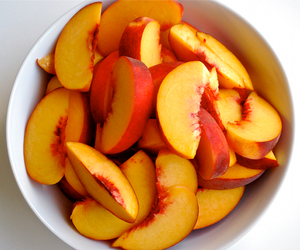 fruit, peach, and food image