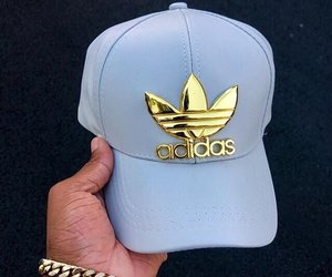 adidas, blue, and boujee image