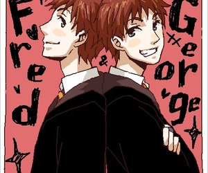 gryffindor, harry potter, and fred weasley image