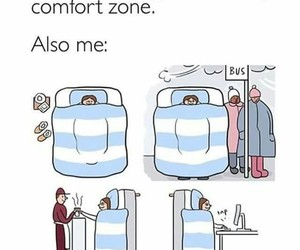 comfort zone, comic, and funny image