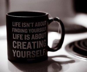 life, mug, and quote image