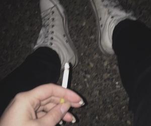 alternative, cigarettes, and dark image