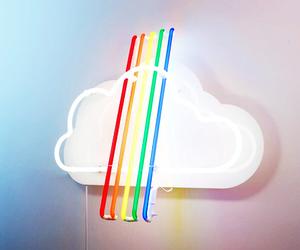 light, rainbow, and love image