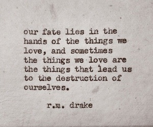 quote, love, and destruction image