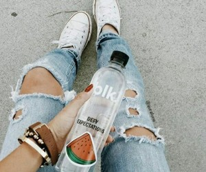 jeans, water, and style image