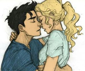 percabeth, couple, and percy jackson image