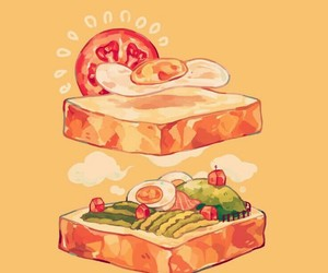 anime food, anime, and food illustration image