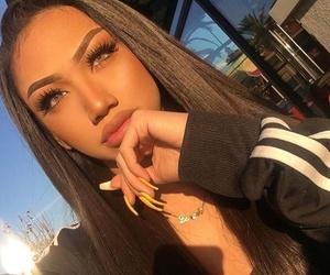 girl, beautiful, and make up image