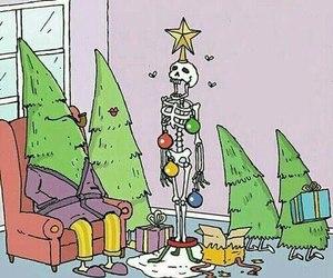 christmas, tree, and funny image